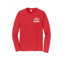 Born Kickers - Gildan Youth L/S Heavy Cotton Tee (Red)