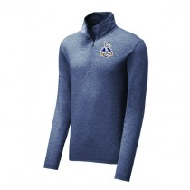 West Side Soccer League - Tri-Blend Wicking 1/4-Zip Pullover (NAVY)