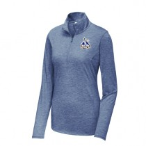 West Side Soccer League - Womens Tri-Blend Wicking 1/4-Zip Pullover (NAVY)