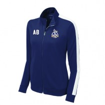 West Side Soccer League - Womens Tricot Track Jacket (NAVY/WHITE)