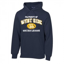 West Side Soccer League Spiritwear - Sport-Tek Men's/Youth Property Of Hooded Sweatshirt (Navy)