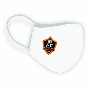 Woodhaven Soccer Club - Custom Club Face-Mask (White)